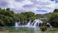 Scenic Waterfalls In Krka Nati...