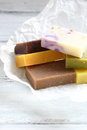 Scented soap on paper handmade Stock Images