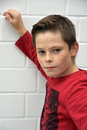 Sceptical looking teenager boy Royalty Free Stock Photo