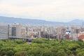 Schöne landschaft von osaka viewd von osaka castle in japan Lizenzfreie Stockbilder