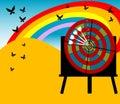 Scheda e farfalle dell'obiettivo Fotografia Stock Libera da Diritti