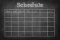 Schedule on Royalty Free Stock Photo