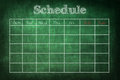 Schedule on chalkboard Royalty Free Stock Photo