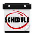 Schedule Word Wall Calendar Remember Appointments Stock Image