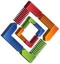 Schema quadrato trattato - frecce 3D Fotografia Stock Libera da Diritti