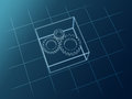 Schematic gears Royalty Free Stock Image