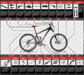 Scheme of mountain bike very elaborated with parts Royalty Free Stock Image