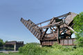 Scherzer Rolling Lift Bascule Train Bridge Royalty Free Stock Photo