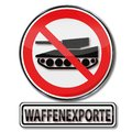 Prohibition sign for arms exports Royalty Free Stock Photo