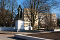 Schiller monument in kaliningrad on sunny spring day Stock Image