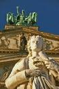 Schiller statue in Berlin Royalty Free Stock Photo