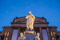 Schiller statue, Konzerthaus Berlin Royalty Free Stock Photo