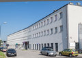 Schindler factory in krakow the facade of the building of the poland Royalty Free Stock Photo