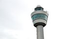 schiphol airport control tower in Amsterdam Royalty Free Stock Photo