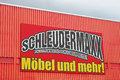 Schleudermaxx sign on a german furniture store Stock Photos