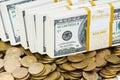 Schließen Sie oben von den Dollar Stockfoto