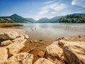 Schliersee lake in bavaria germany Royalty Free Stock Photos