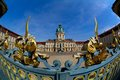 Schloss charlottenburg shoting with fishey optik Royalty Free Stock Photos