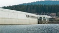 Schluchsee the dam wall. Royalty Free Stock Images