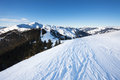 Schmitten winter ski slopes of zell am see resort Stock Images