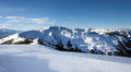 Schmitten winter ski slopes of zell am see resort Stock Photo