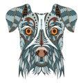 Schnauzer Dog Head Zentangle S...