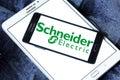 Schneider Electric energy company logo Royalty Free Stock Photo