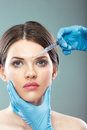 Schnheits frauengesichts chirurgieabschlu herauf portrt Lizenzfreie Stockbilder