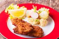 Schnitzel wiener and potato salad Stock Photography
