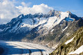 Schoenenbuelhorn and Wannenhorn with aletsch glacier Royalty Free Stock Photo