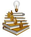 Scholar leader icon symbol Stock Images