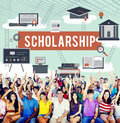 Scholarship Aid College Education Loan Money Concept Royalty Free Stock Photo