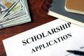 Scholarship Application. Royalty Free Stock Photo