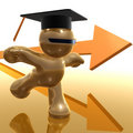 Scholarship and graduation futuristic icon Stock Photos