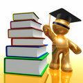 Scholarship and library futuristic icon Stock Photo