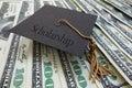 Scholarship money Royalty Free Stock Photo