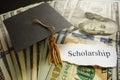 Scholarship note Royalty Free Stock Photo