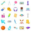 Scholastic icons set, cartoon style Royalty Free Stock Photo