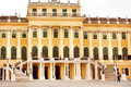Schonbrunn Palace built in Baroque style for the royal family. World Heritage List Royalty Free Stock Photo