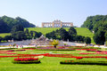 Schonbrunn palace gardens view through the of vienna austria Royalty Free Stock Images