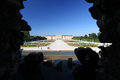 Schonbrunn Palace from Neptune Fountain Royalty Free Stock Photo