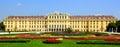 Schonbrunn palace vienna austria famous and gardens Royalty Free Stock Photos