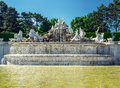 Schonbrunn palace in vienna austria the neptune fountain at the Stock Images