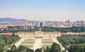 Schonbrunn palace in vienna austria panorama of Stock Photos
