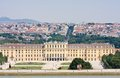 Schonbrunn palace in vienna austria panorama of Royalty Free Stock Photo