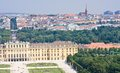 Schonbrunn palace in vienna austria panorama of Royalty Free Stock Photos