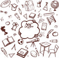 School accessories Royalty Free Stock Images