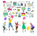 School Activity Sport Hobby Leisure Game Concept Royalty Free Stock Photo