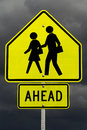 School ahead(with clipping path) Royalty Free Stock Image