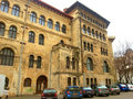 School of arhitecture picture with impressive building from bucharest Stock Images